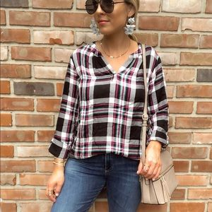 Time and tru plaid top